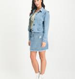 Lofty Manner Skirt Avelie Light Blue