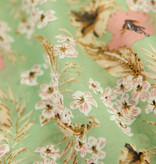 Lofty Manner Mintgroene bloemenprint zomerjurk Leslie