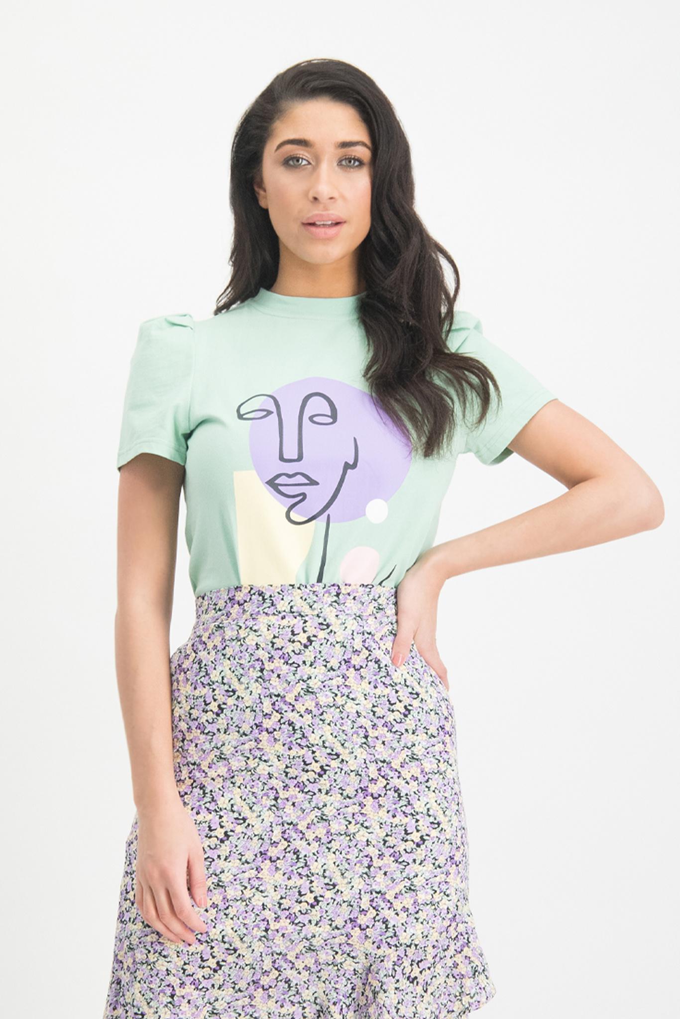 Lofty Manner Mint kleurige T-shirt Alaina
