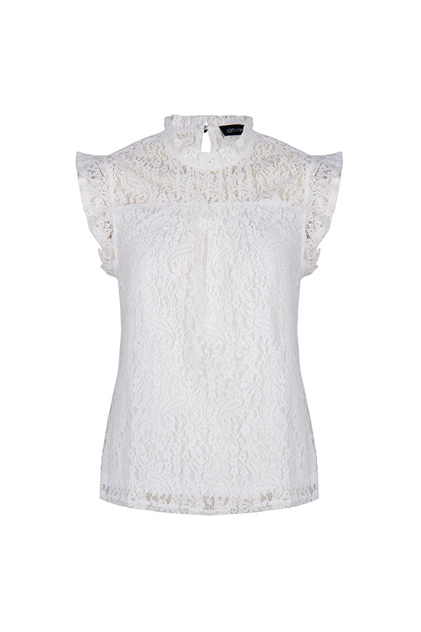 Lofty Manner White Lace Top Donna