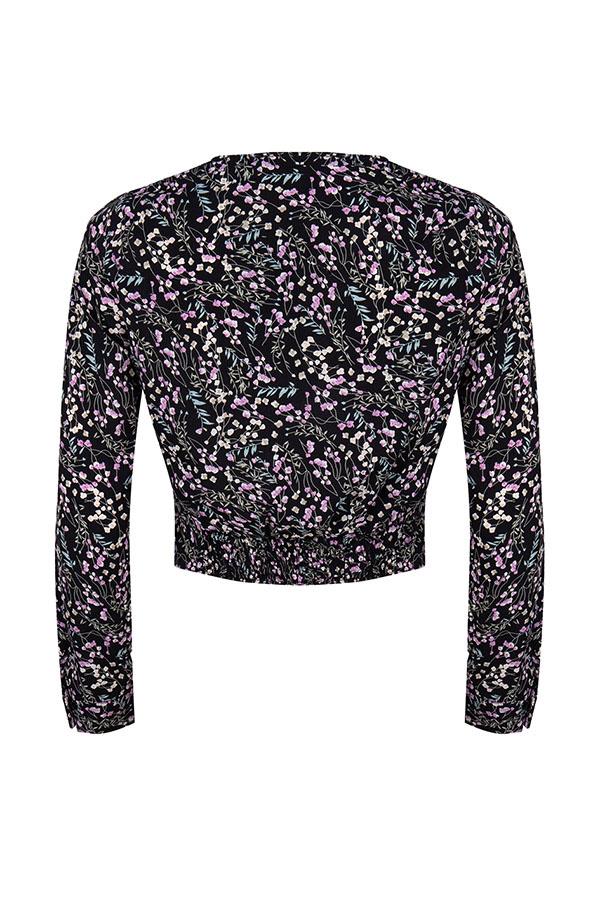 Lofty Manner Black Floral Print Blouse Georgie