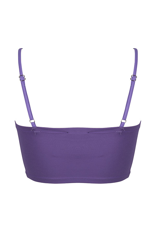 Lofty Manner Purple Leather Top Zinzi