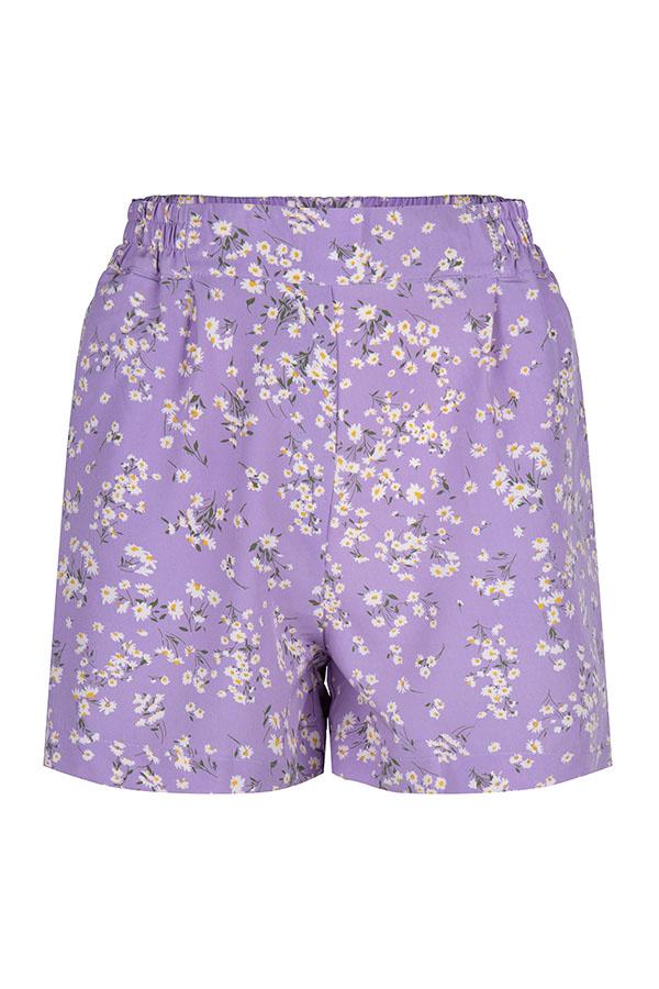 Lofty Manner Purple Floral Print Short Gisela