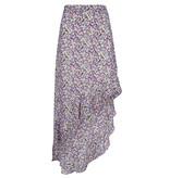Lofty Manner Paarse rok met bloemenprint Lieza