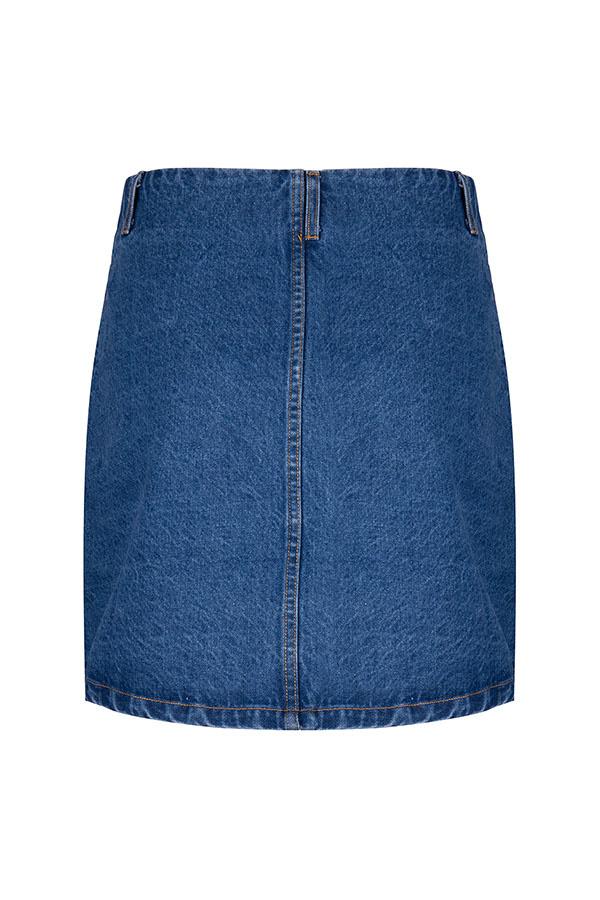 Lofty Manner Blue Denim Skirt Kinza