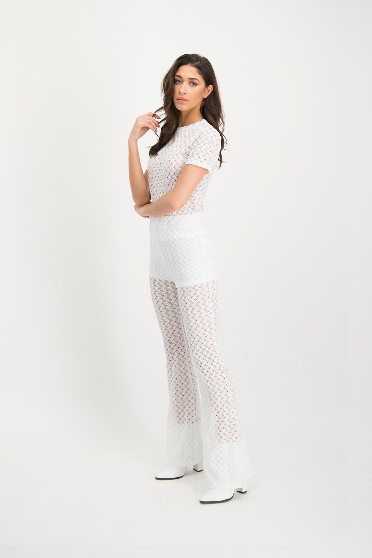 Lofty Manner White Lace Pants Scarlett