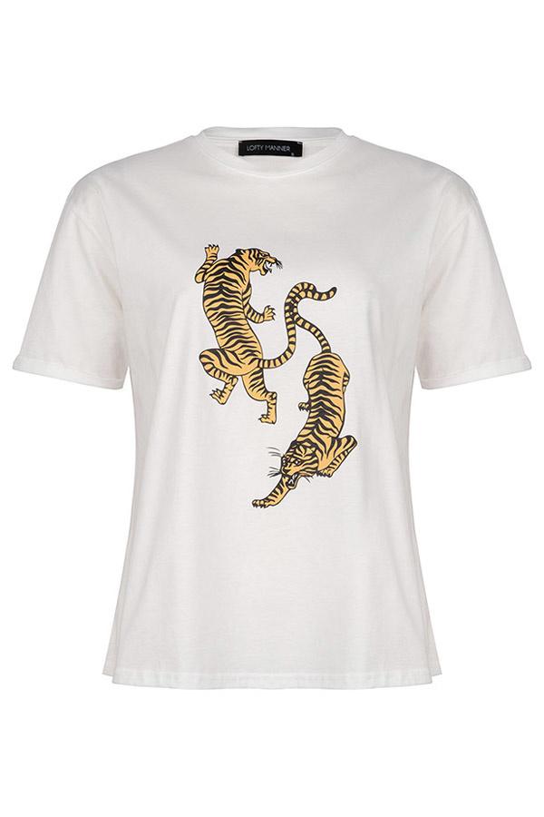 Lofty Manner T-shirt Vienna Wit
