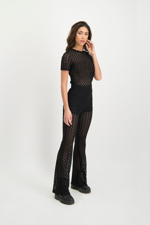 Lofty Manner Black Lace Top Roselina