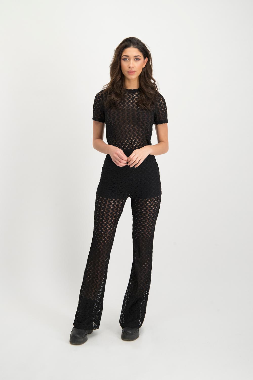 Lofty Manner Black Lace Pants Scarlett
