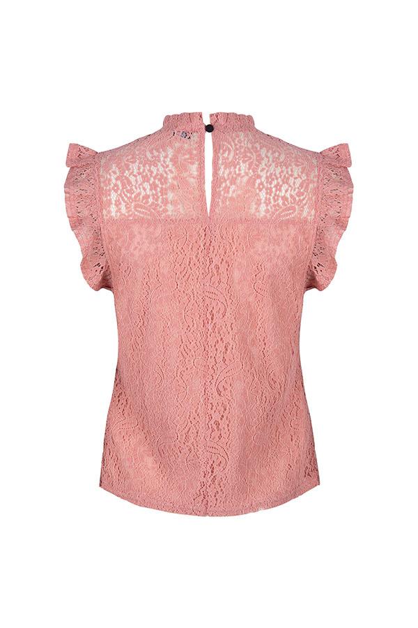 Lofty Manner Roze Kanten Top Donna