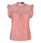 Lofty Manner Pink Lace Top Donna
