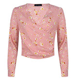 Lofty Manner Pink Floral Print Blouse Georgie