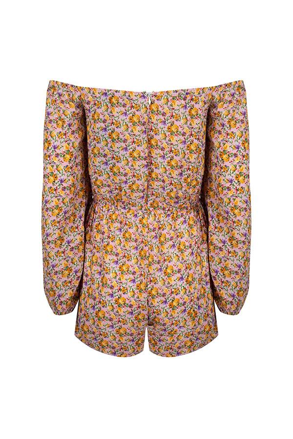 Lofty Manner Gele bloemenprint Playsuit Sienne