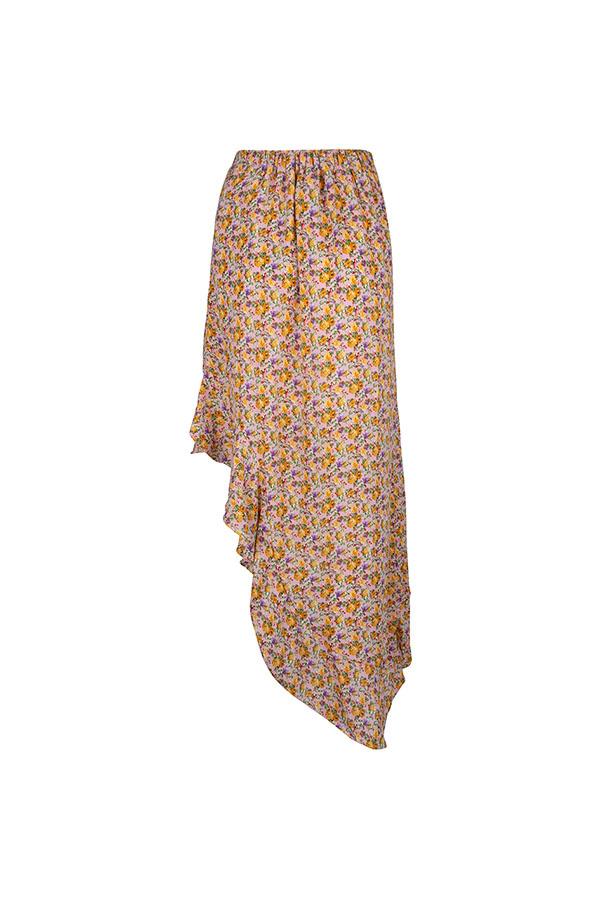 Lofty Manner Yellow Flower Print Skirt Lieza