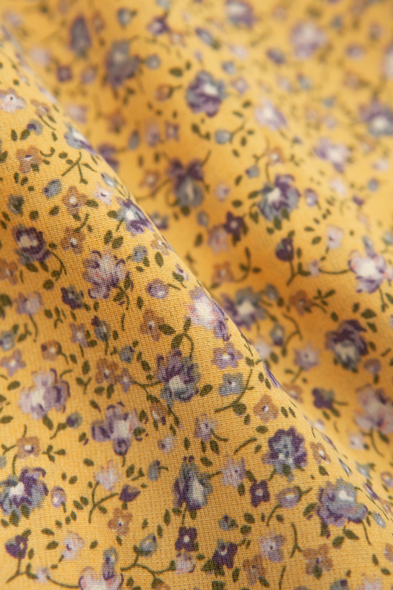 Lofty Manner Gele Bloemenprint Broek Aliz