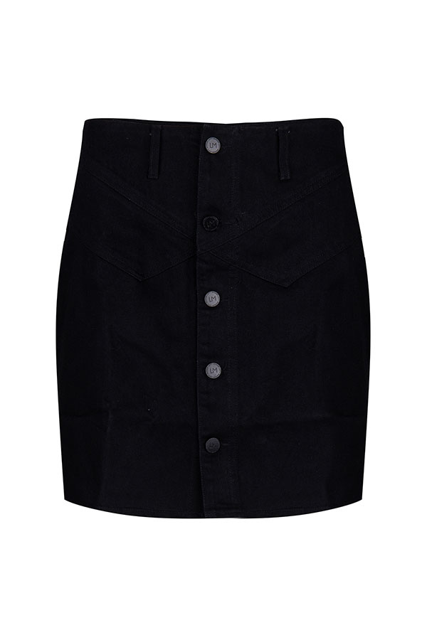 Lofty Manner Black Denim Skirt Kinza
