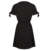 Lofty Manner Black Midi Dress Inaya