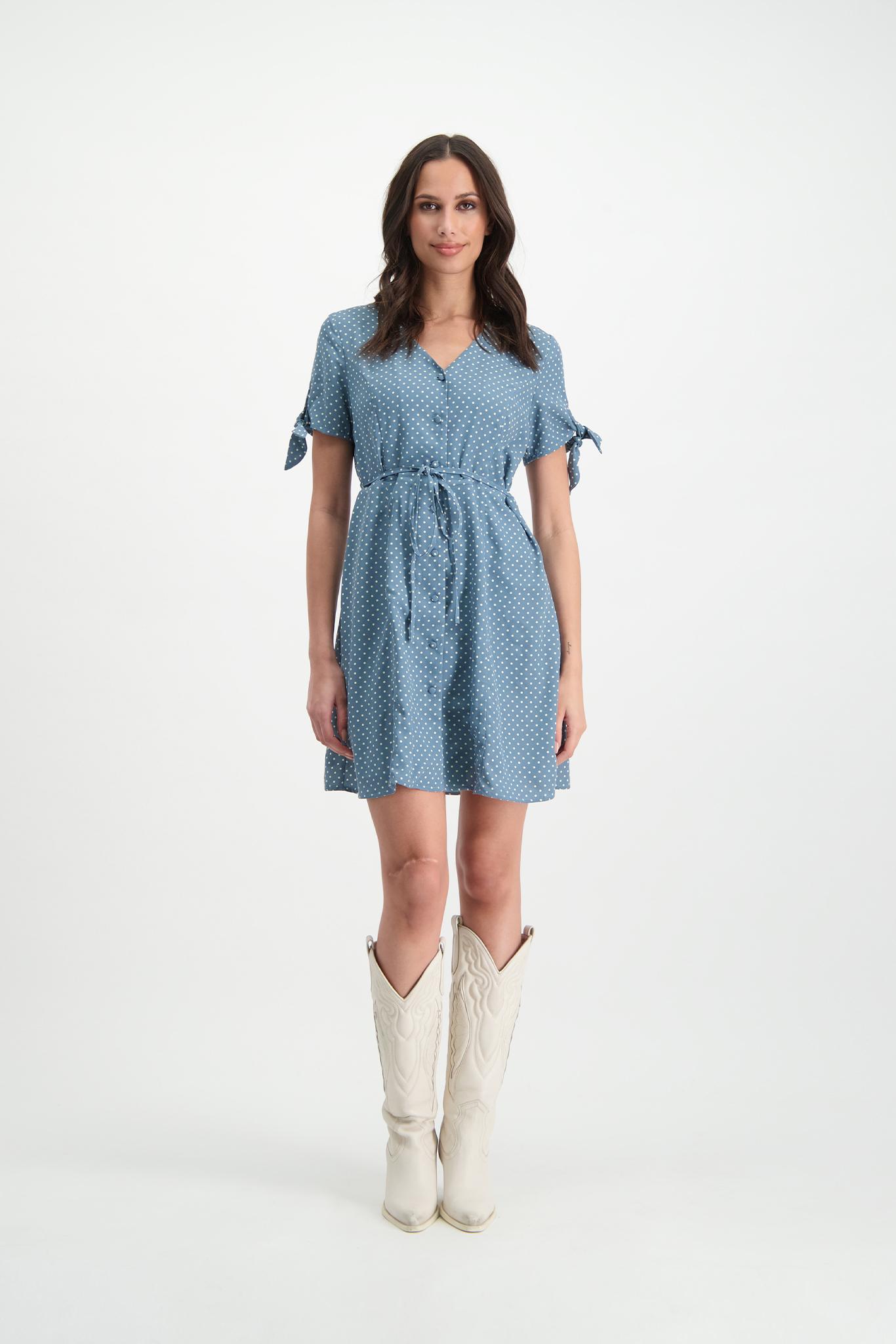 Lofty Manner Blue Midi Dress Inaya