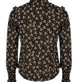Lofty Manner Zwarte Bloemenprint Top Mayra