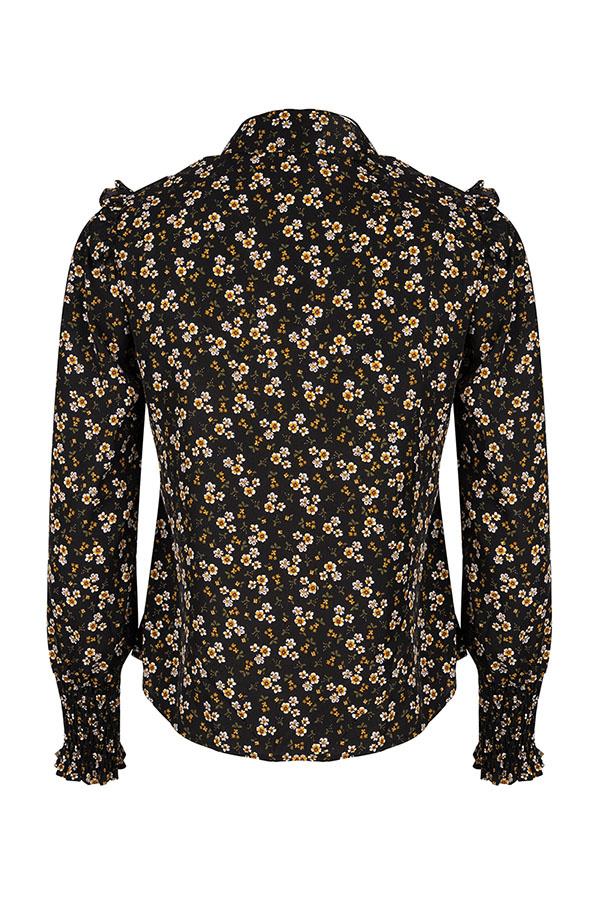 Lofty Manner Black Floral Print Top Mayra