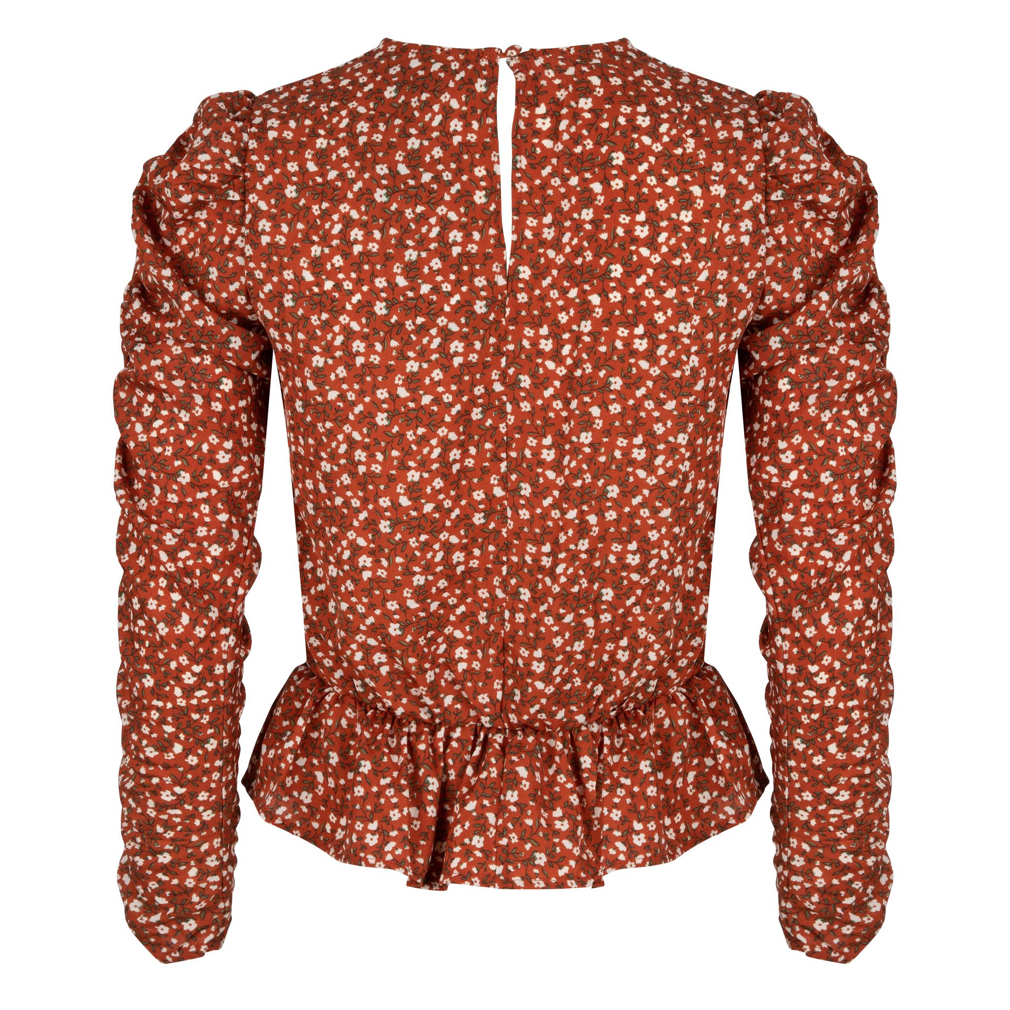 Lofty Manner Oranje Bloemenprint Top Assiya