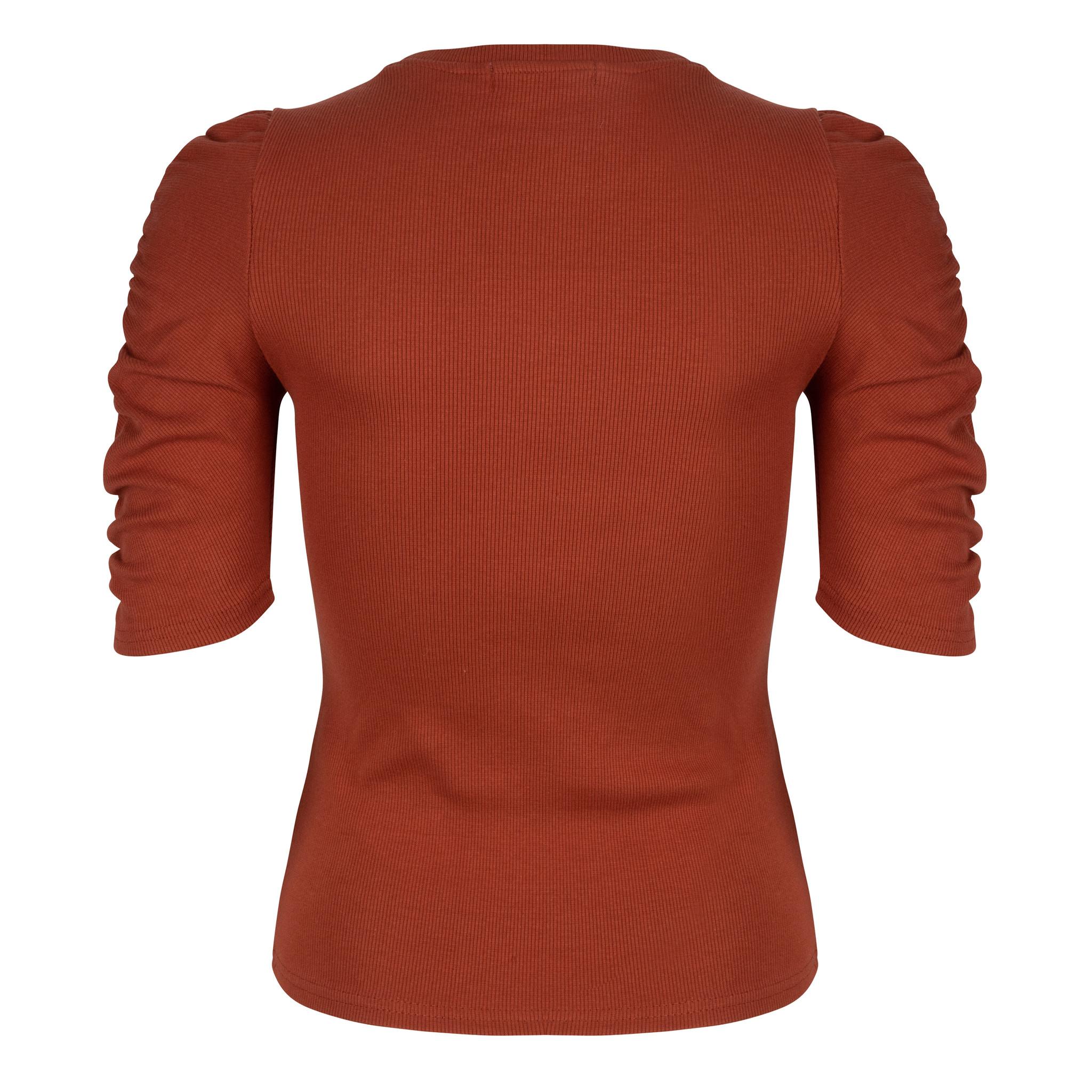 Lofty Manner Rust brown Top Adinda