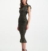 Lofty Manner Long Black Floral Print Dress Celia