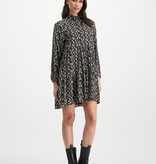 Lofty Manner Black floral print midi dress Lucia