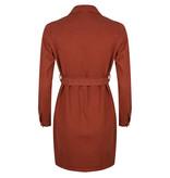 Lofty Manner Rust Brown Denim Dress Jessie
