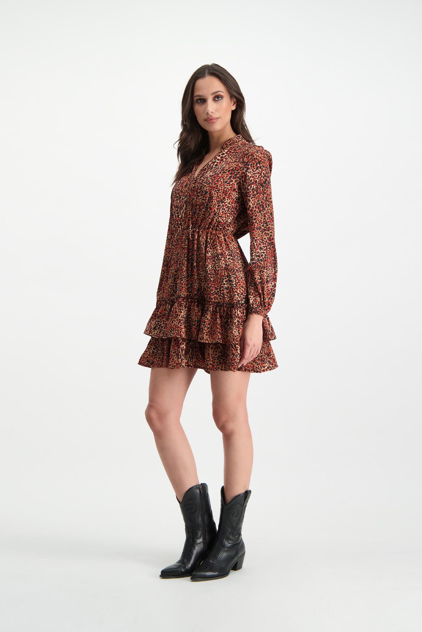 Lofty Manner Red Panther Print Dress Fayah
