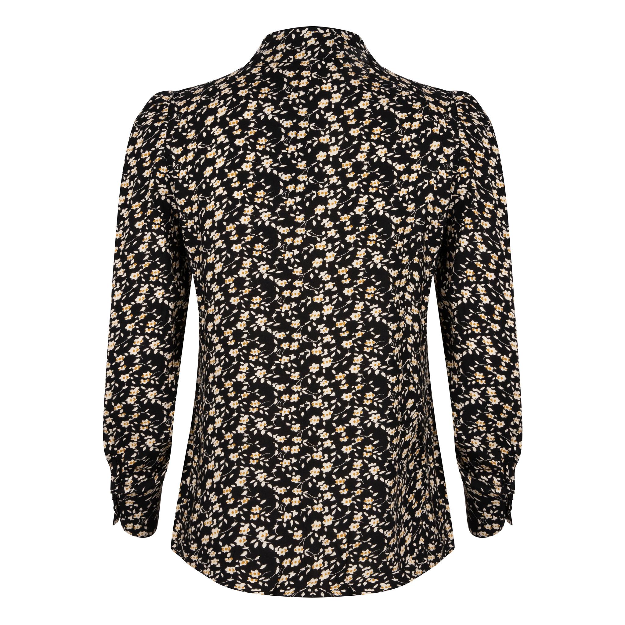 Lofty Manner Black Floral Print Blouse Julie