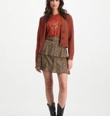 Lofty Manner Colored Floral Print Skirt Jazz