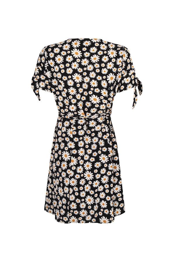 Lofty Manner Black Floral Print Dress Hedwig
