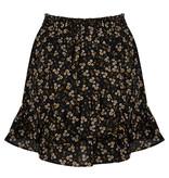 Lofty Manner Zwart-Gele Bloemenprint Rok Ivana