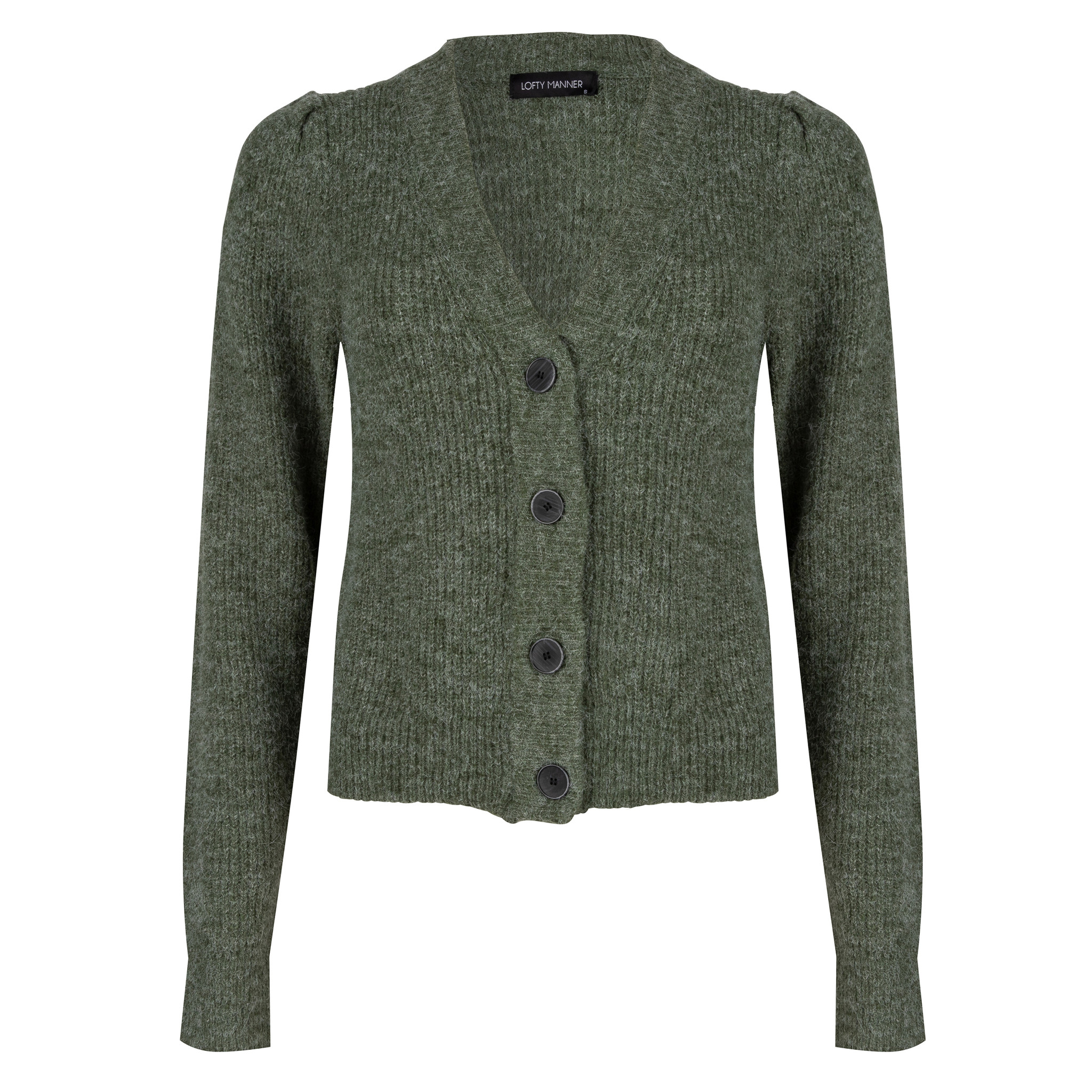 Lofty Manner Groen Gebreid Vest Daphne