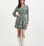 Lofty Manner Green dress with floral print Ava