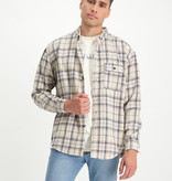 Lofty Manner Blauw-wit Shirt Fransisco