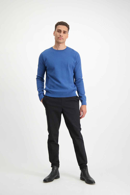 Lofty Manner Blauwe Trui Eloy