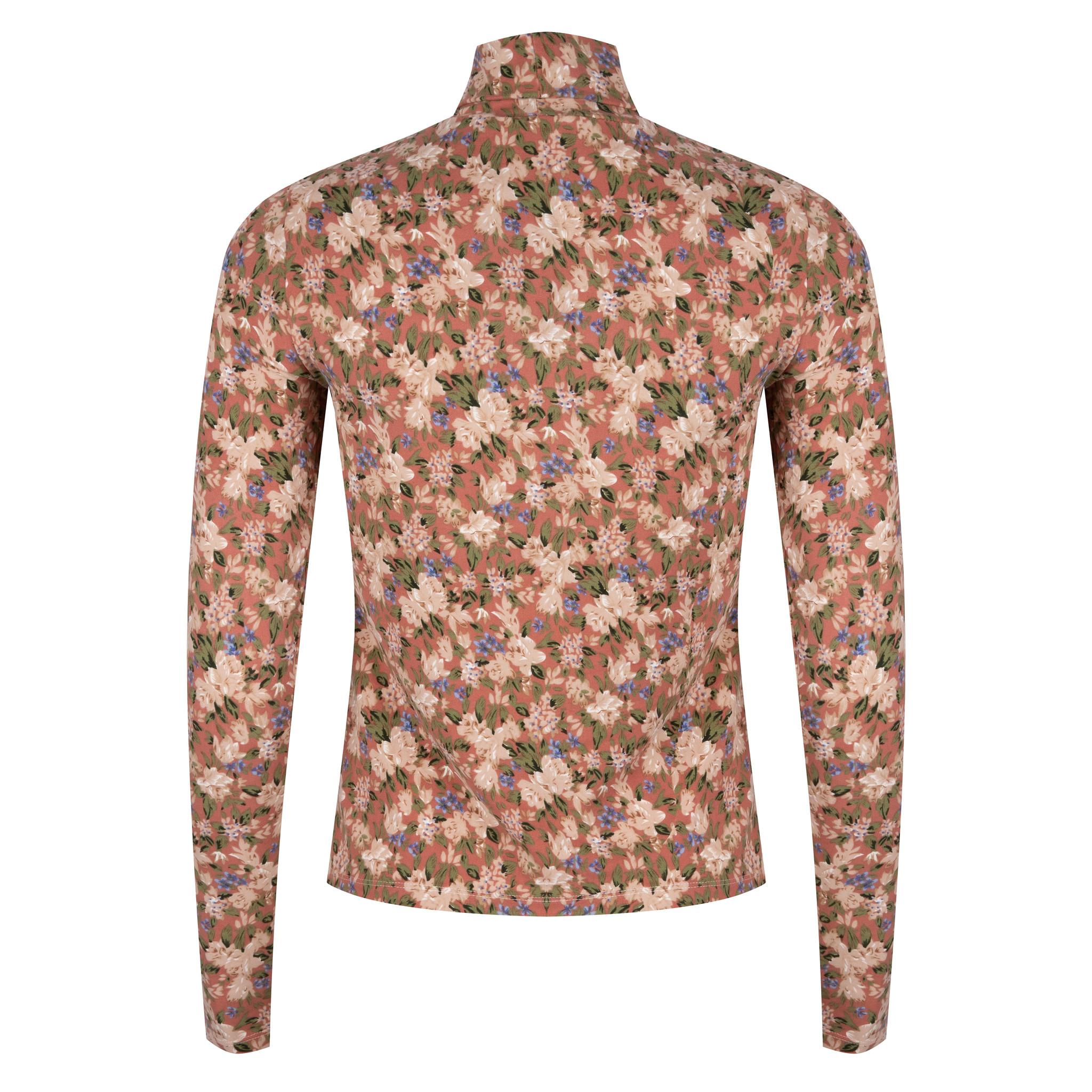 Lofty Manner Pink Floral Print Top Celine
