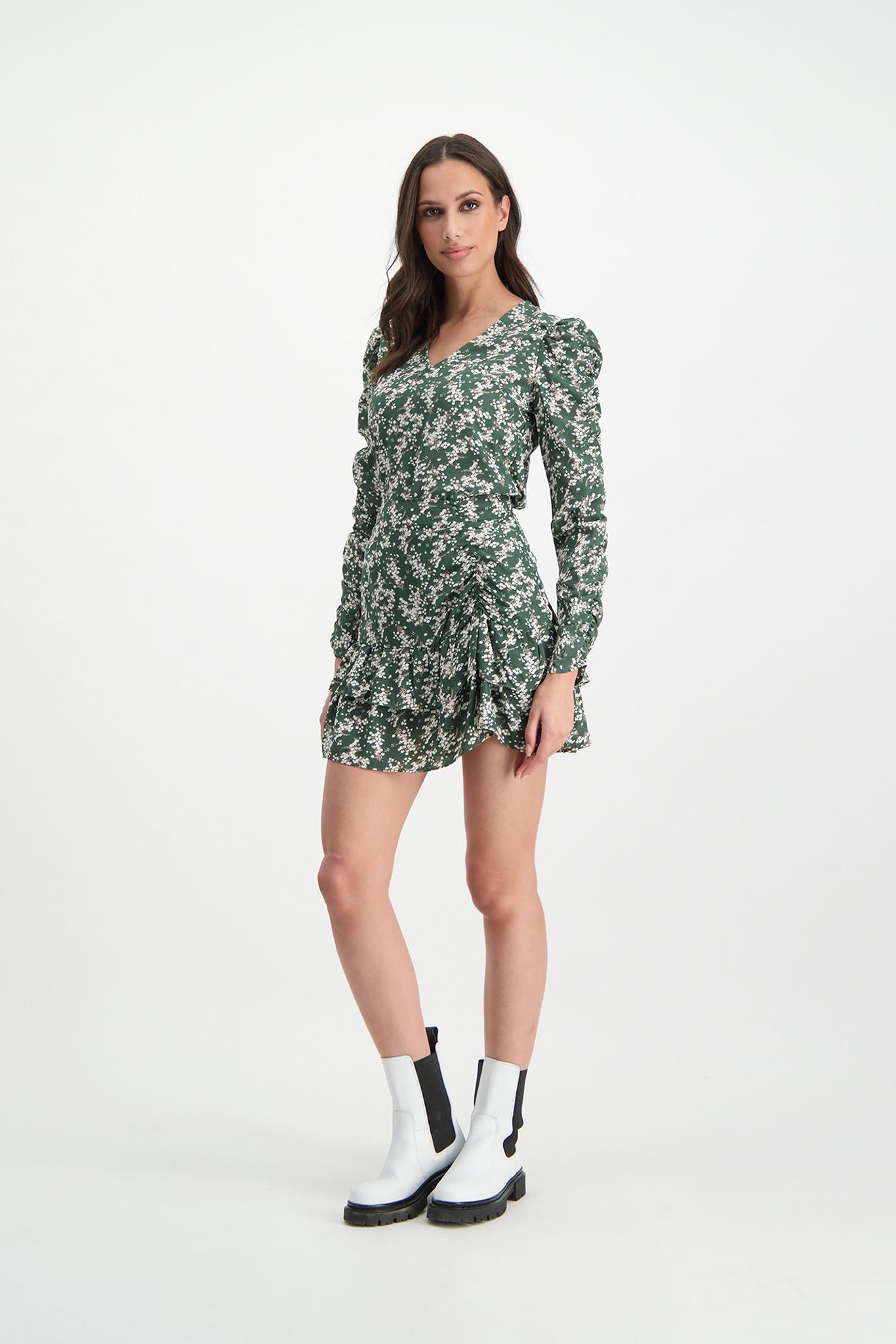 Lofty Manner Groene Bloemenprint Mini Rok Ciara