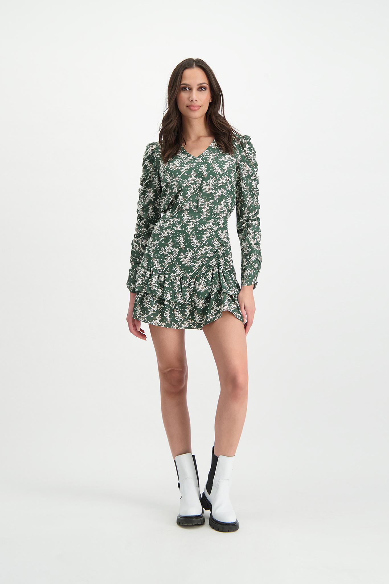 Lofty Manner Green Floral Print Mini Skirt Ciara