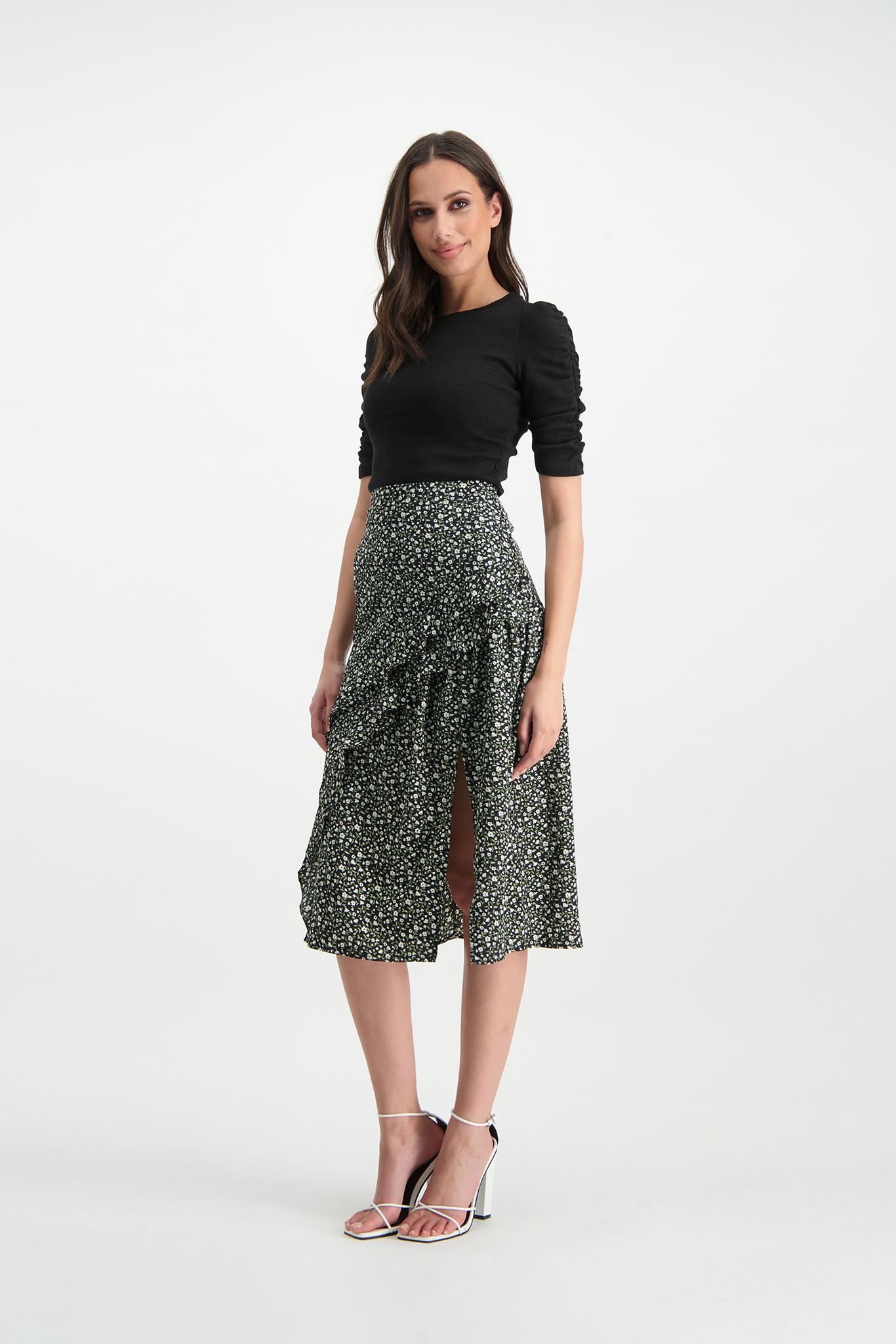 Lofty Manner Green Maxi Skirt Evelyne