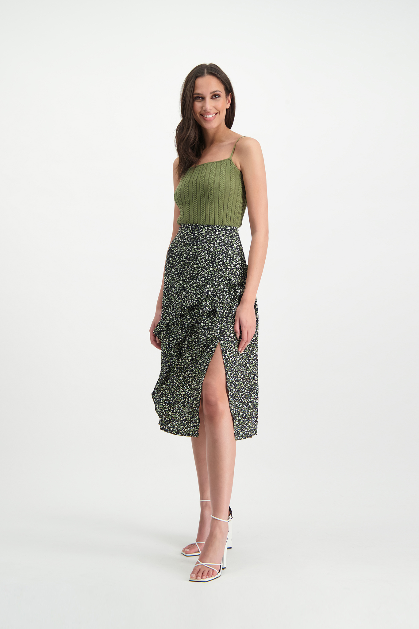 Lofty Manner Green Knitted Camisole Jolene