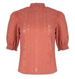 Lofty Manner Pink Puff Sleeve Blouse Gabriela