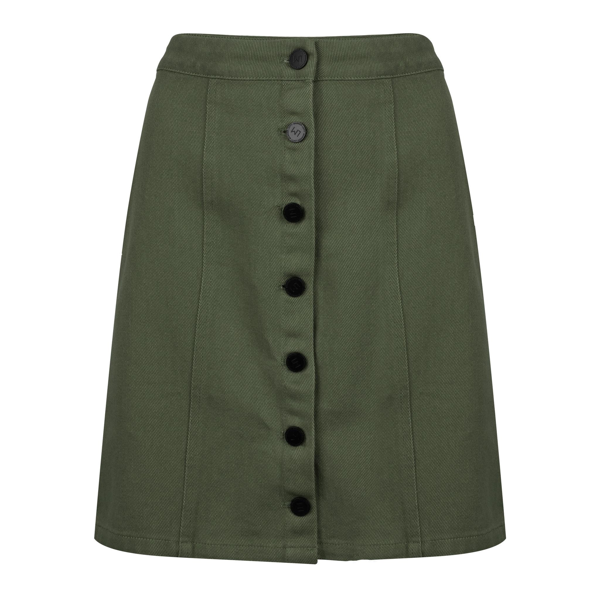 Lofty Manner Green Denim Skirt Janine