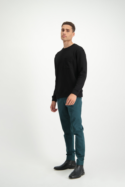 Lofty Manner Zwarte Trui Dario