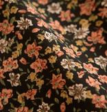 Lofty Manner Orange Yellow Floral Print Blouse Roxy