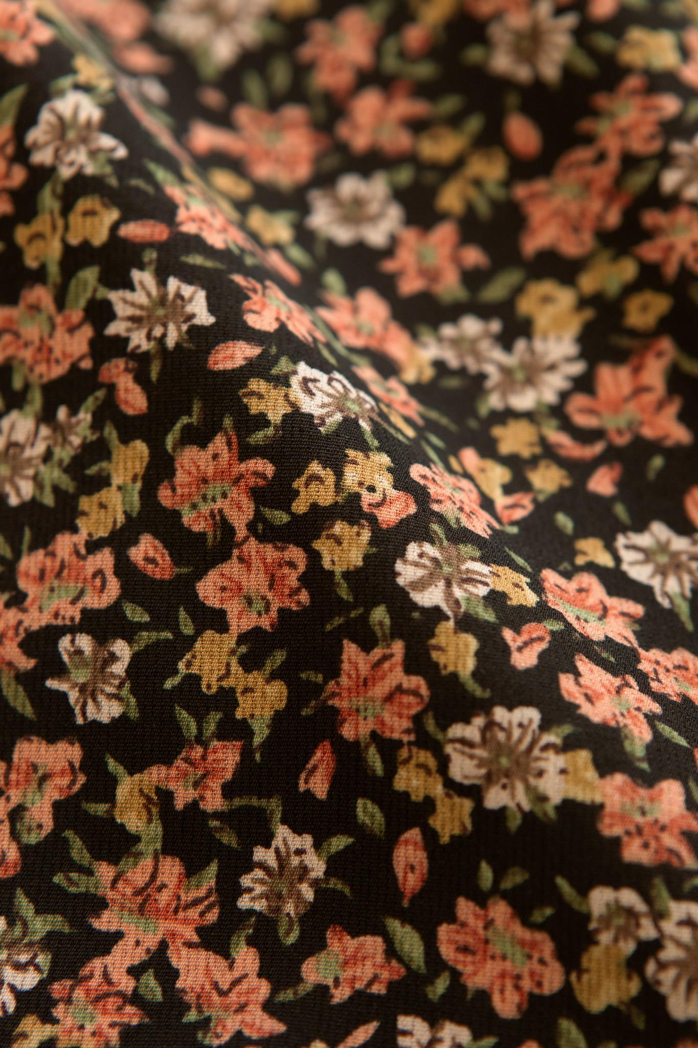 Lofty Manner Oranje Gele Bloemenprint Blouse Roxy