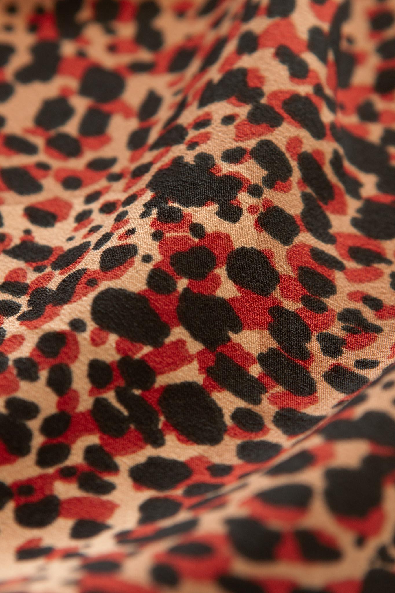 Lofty Manner Rode Panterprint Maxi Rok Evelyne