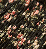 Lofty Manner Lange zwart met roze Bloemenprint Jurk Celia